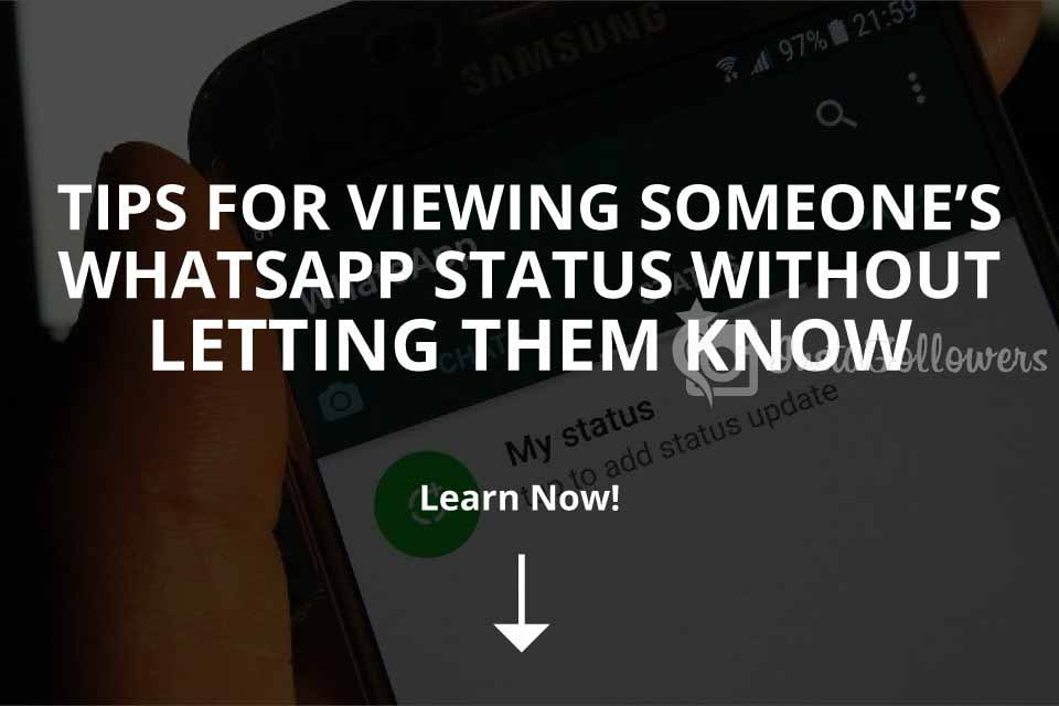 View Someones Whatsapp Status Without Them Knowing