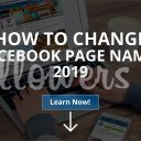 How to Change Facebook Page Name? 2019