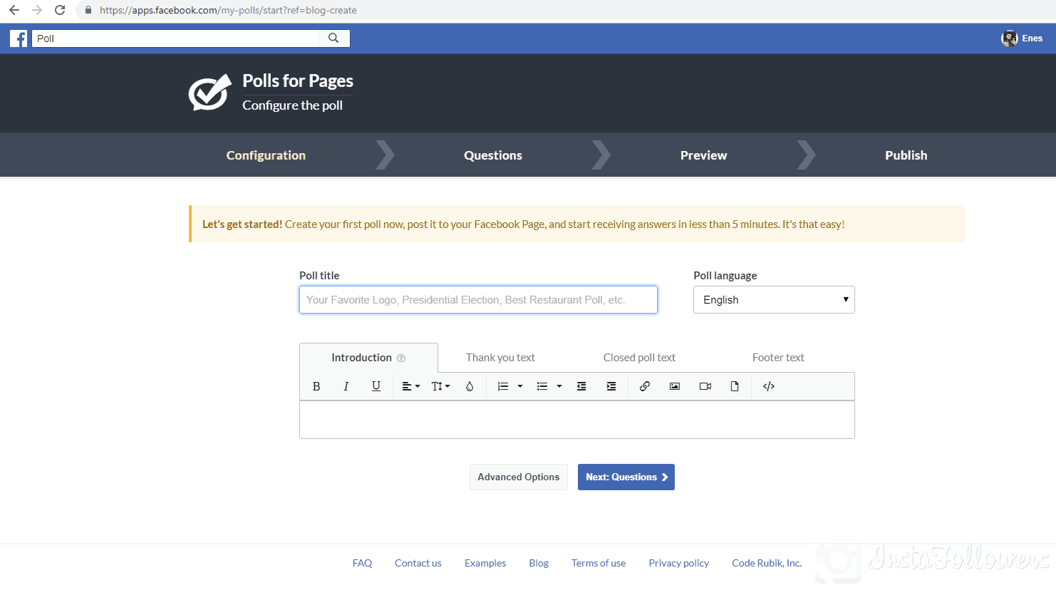 how to make a poll on Facebook