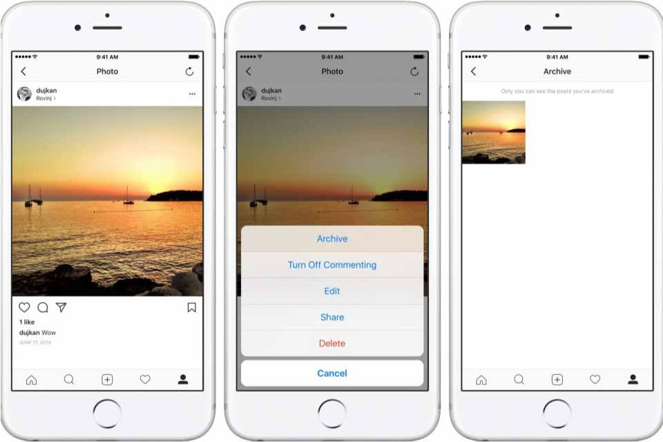 how to access Instagram archive