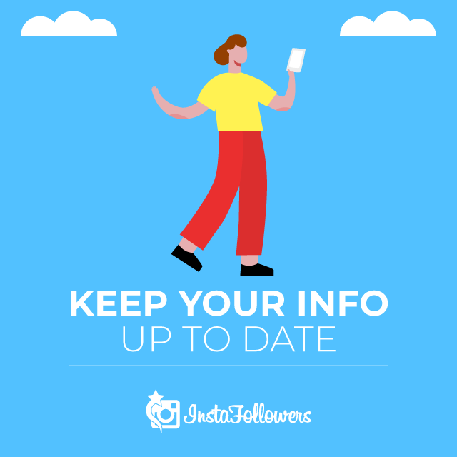 Keep your Instagram info up to date