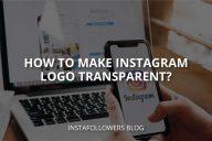 How to Make Instagram Logo Transparent?