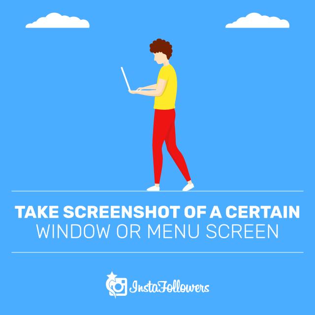 Take Screenshot of a Certain Window or Menu Screen