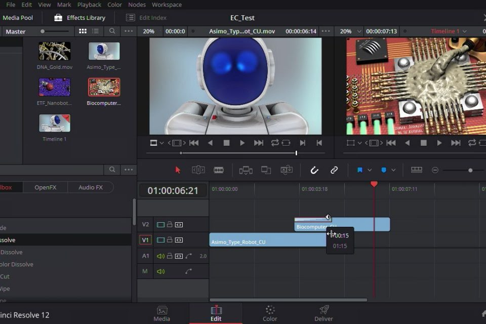 DaVinci Resolve Video Editing Application