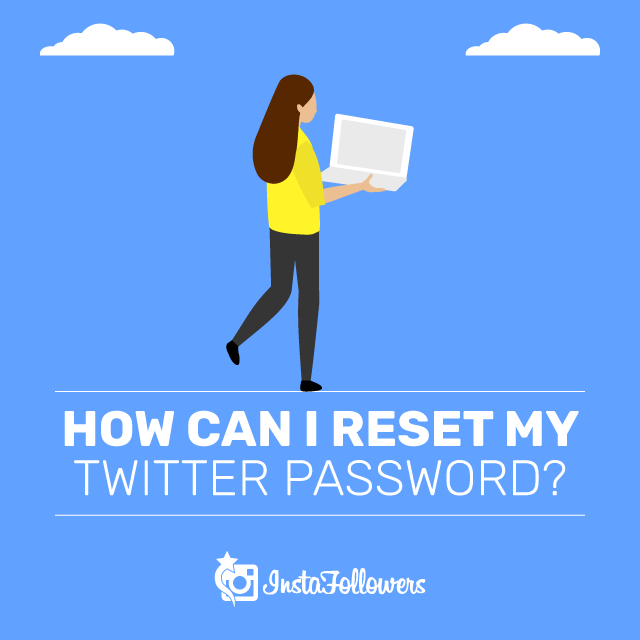 Reset Twitter password