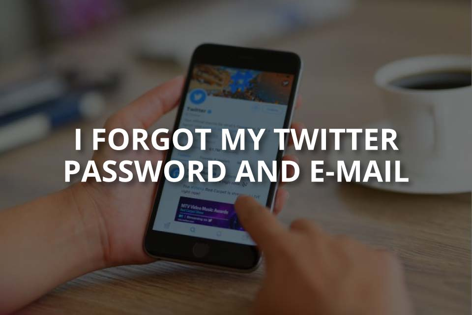 I Forgot My Twitter Password and E-Mail