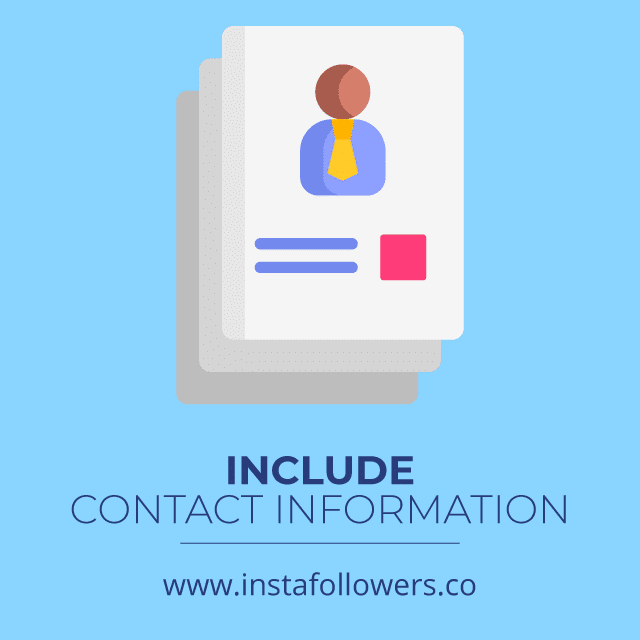 include contact information press release