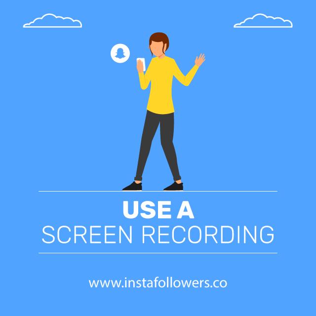 use a screen recording