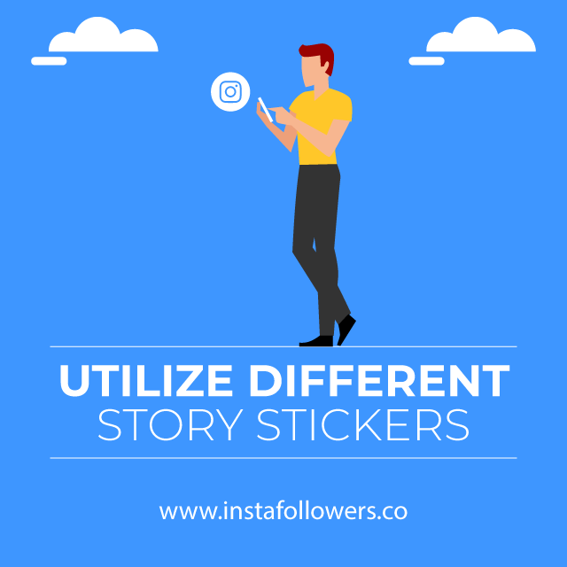 utilize different story stickers