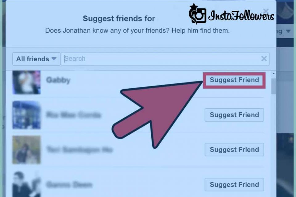 Suggest Facebook Friends
