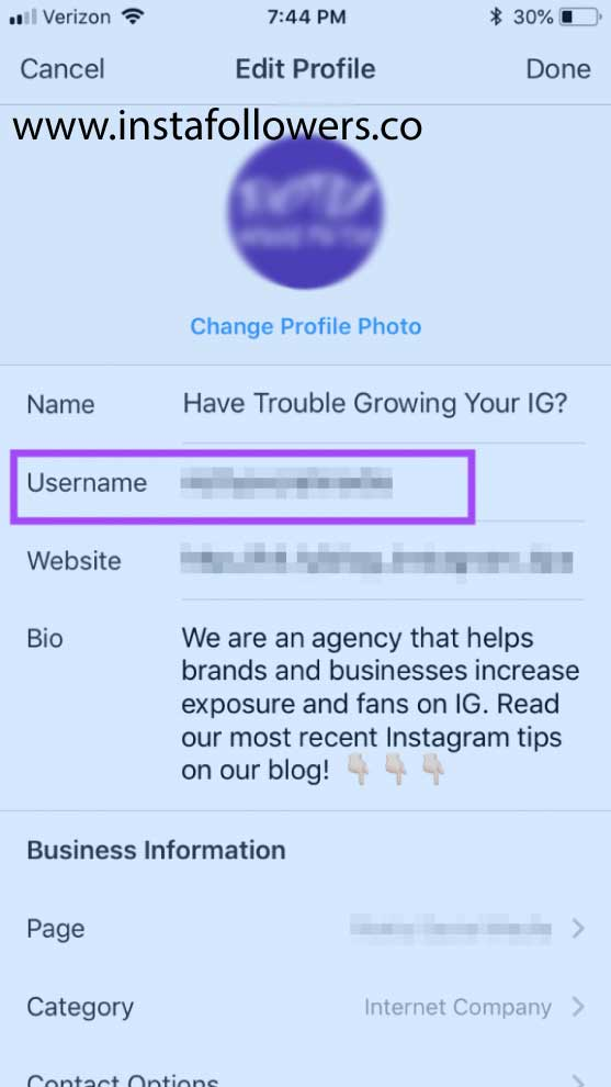 How to Change the Instagram Handle