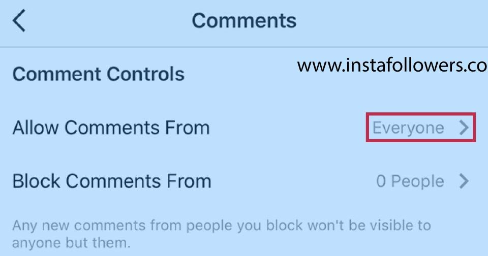 How to Limit Comments on Instagram