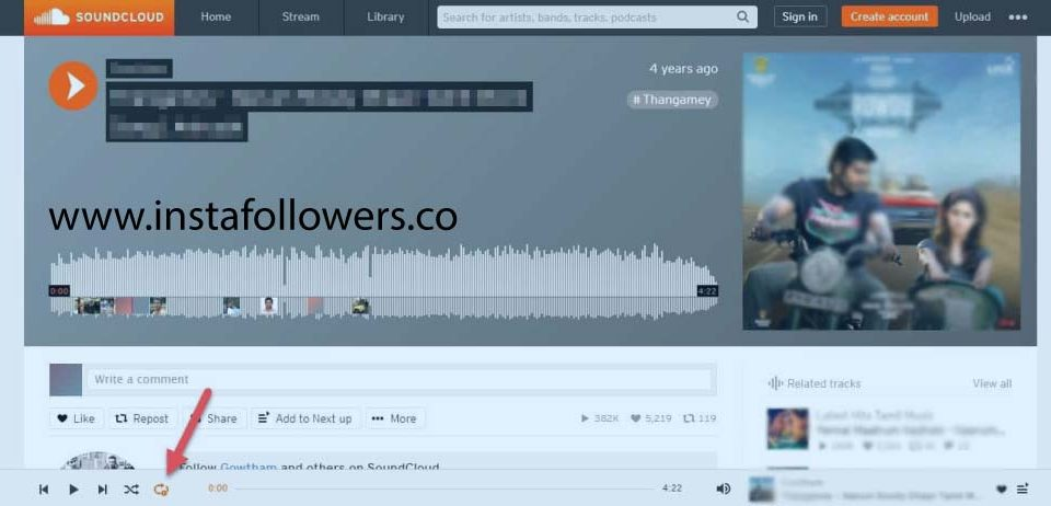 How to Loop SoundCloud Songs on the Website
