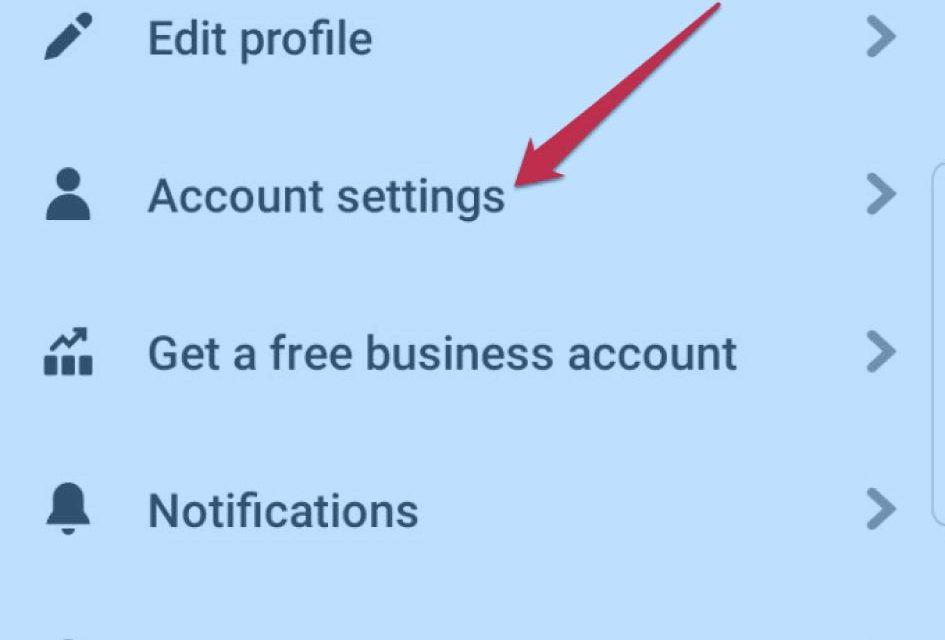 Delete Pinterest Account on Mobile App