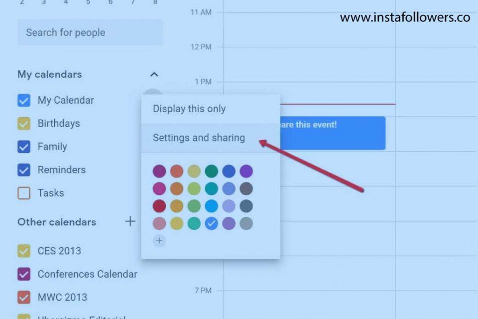 How to Share Your Calendar