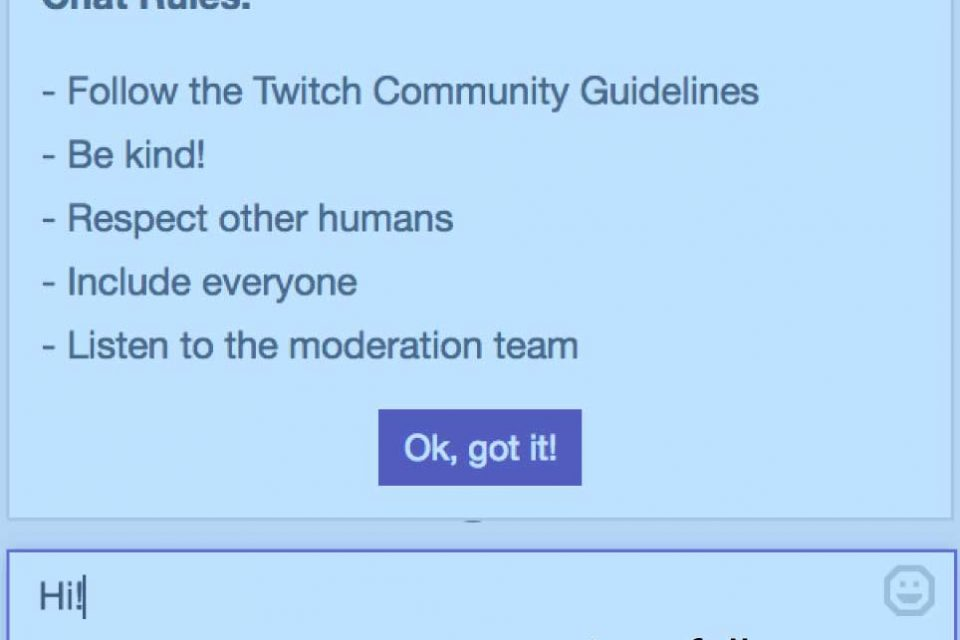 Setting Up a Twitch chat