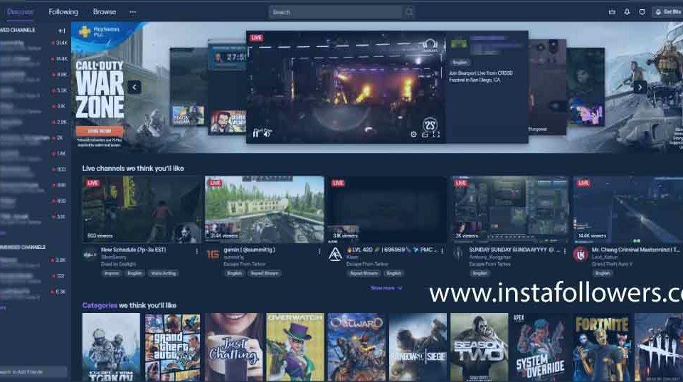 Twitch Live Stream Platform