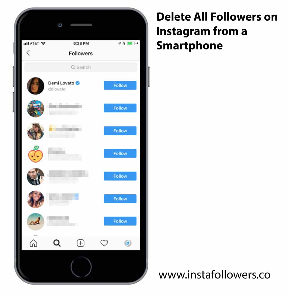 Delete All Followers on Instagram From a Smartphone