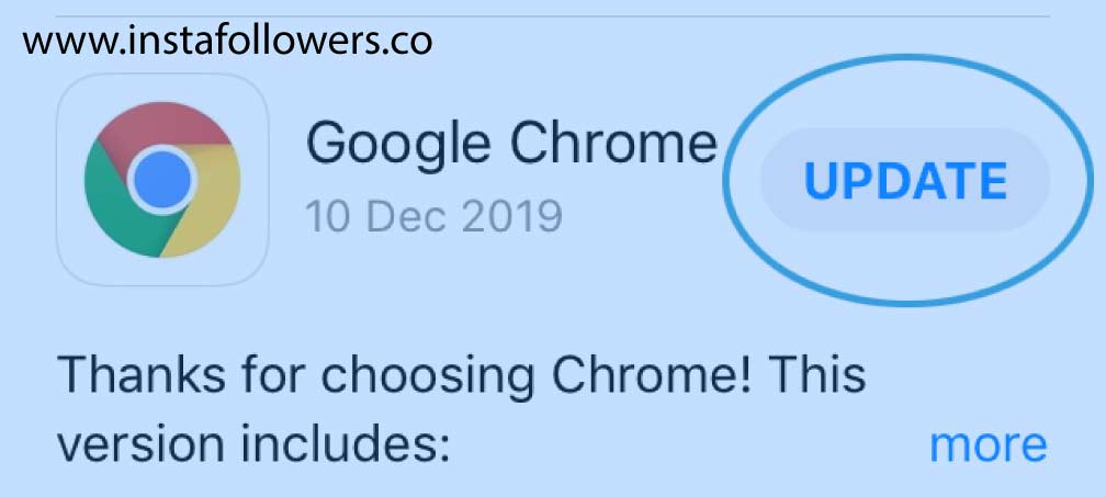 Update Chrome on your iOS devices