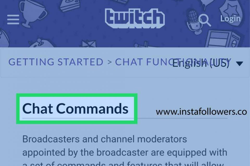 Using Chat Commands on Twitch Chat