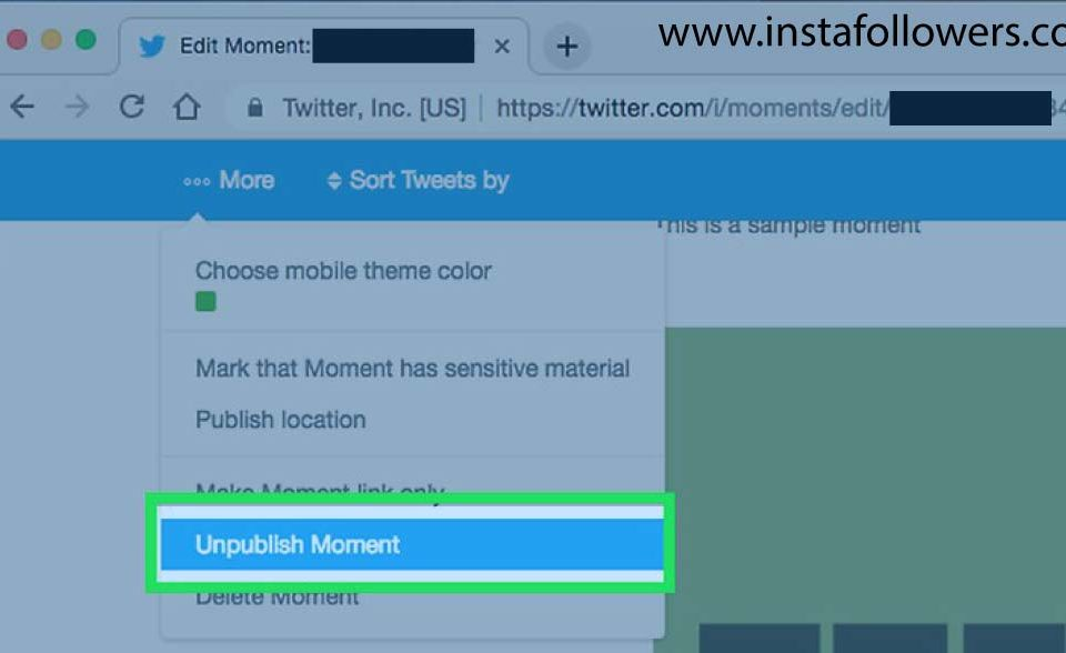how to make a twitter moment private