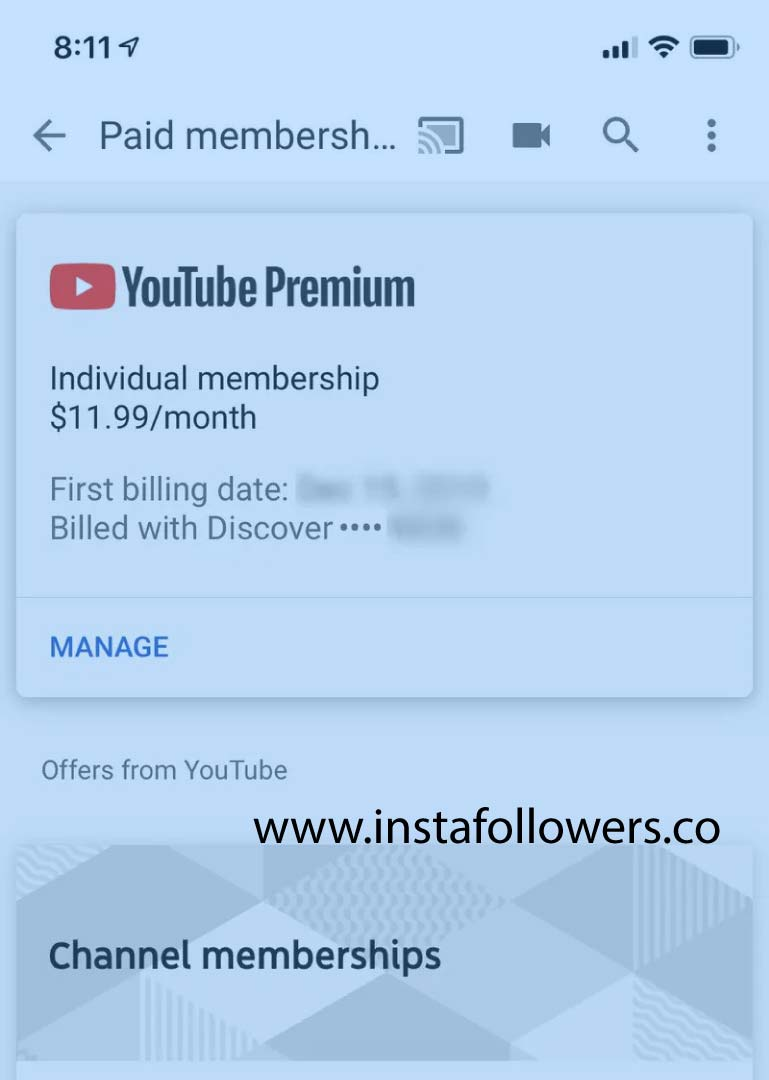 Cancel YouTube Premium