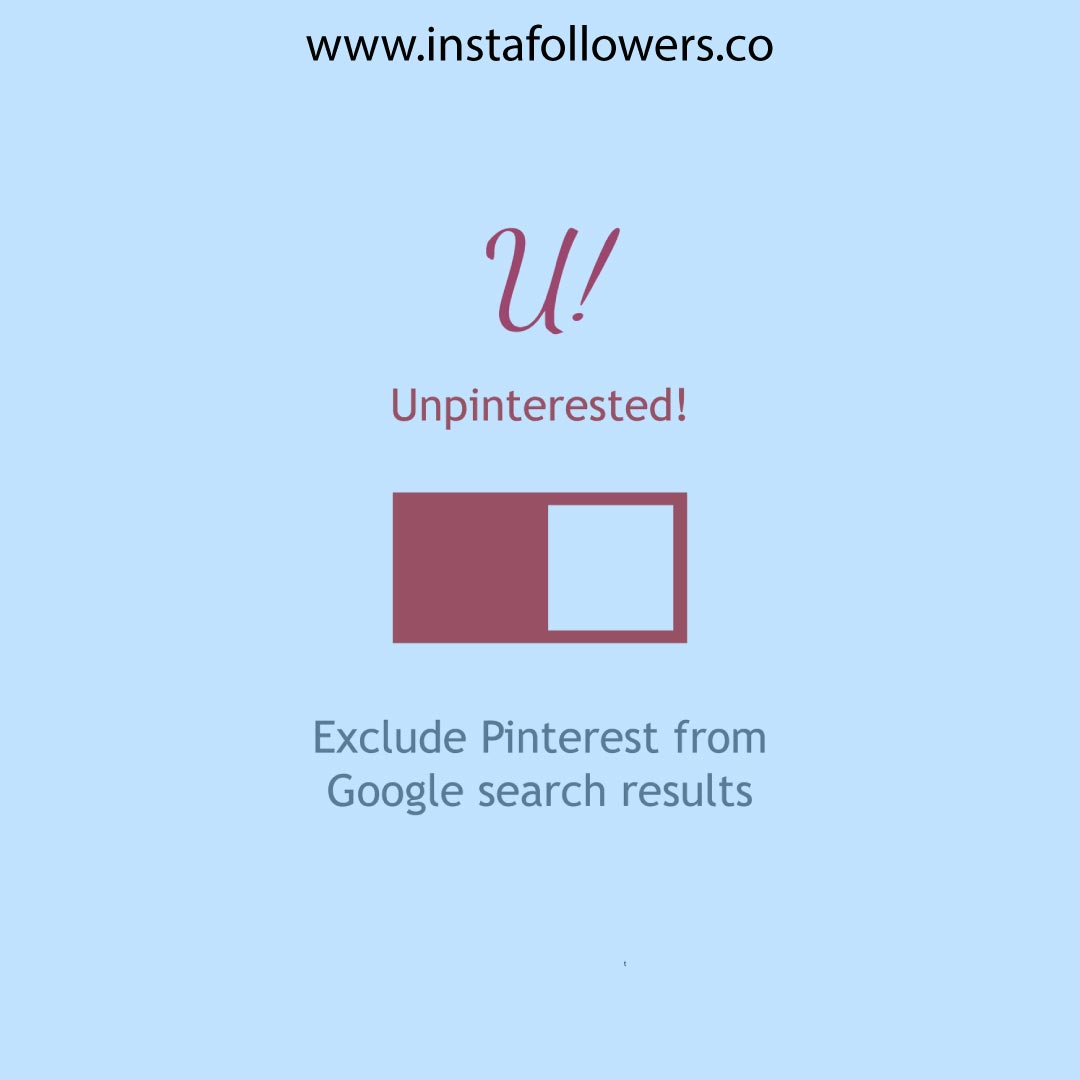 What method to exclude Pinterest from Google?