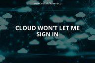 Why Won't iCloud Sign Me In?