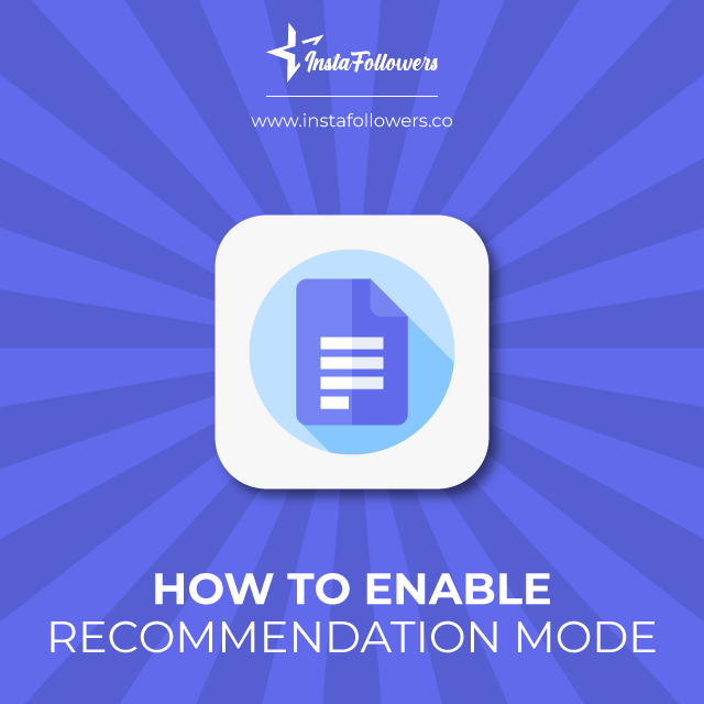 Enable Recommendation Mode
