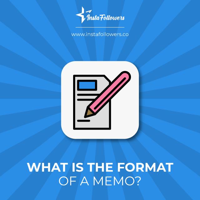Format of a memo
