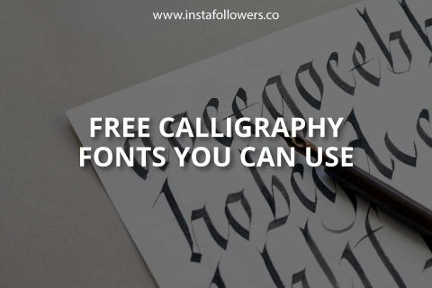 Free Calligraphy Fonts You Can Use