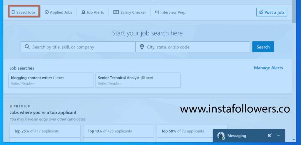 How to save jobs on LinkedIn