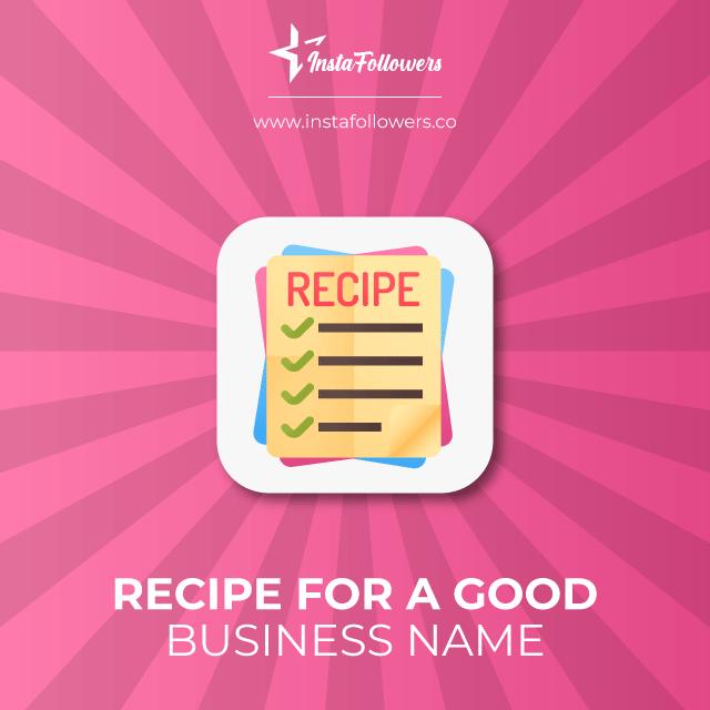 Recipe for a good company name