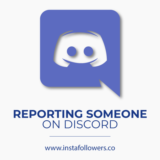Report someone for discord