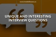Unique and Interesting Interview Questions