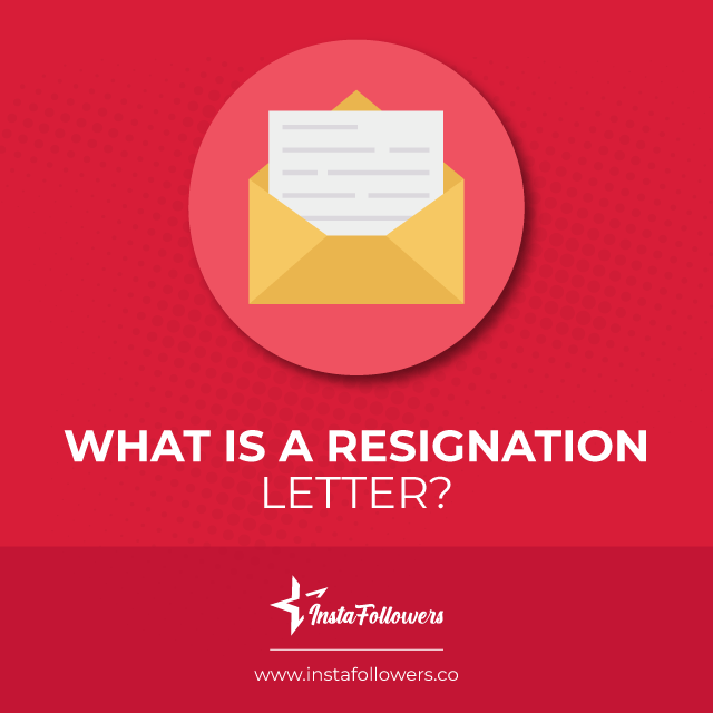 What is a letter of resignation