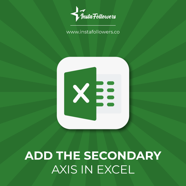 add the secondary axis in excel