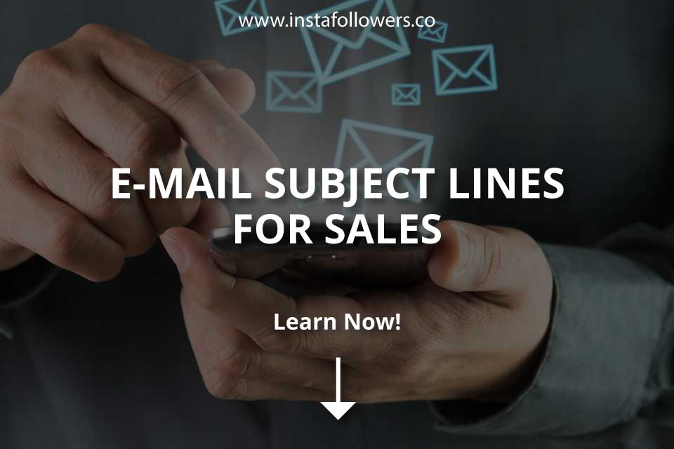 Email Subject Lines for Sales