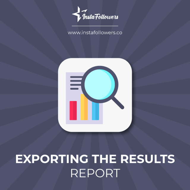 exporting the results report