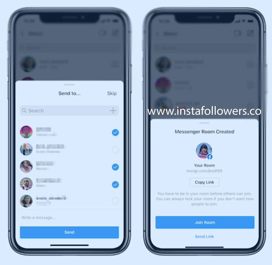how to join instagram messenger rooms