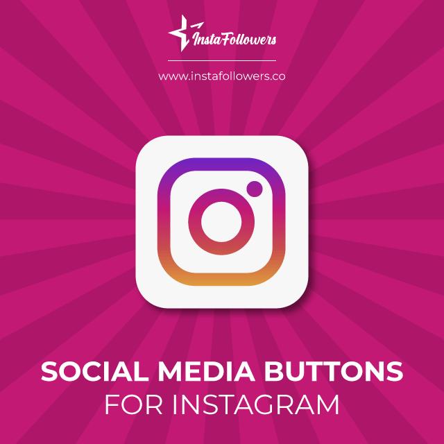 instagram social media buttons