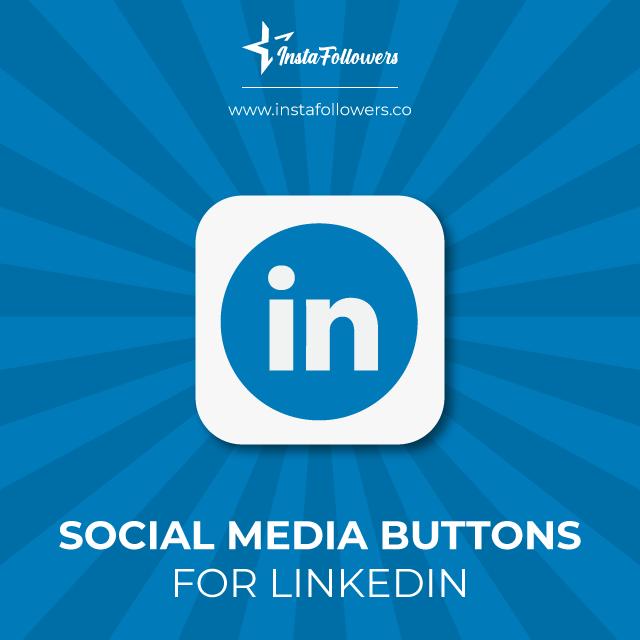 linkedin social media buttons