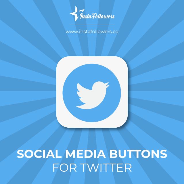 twitter social media buttons