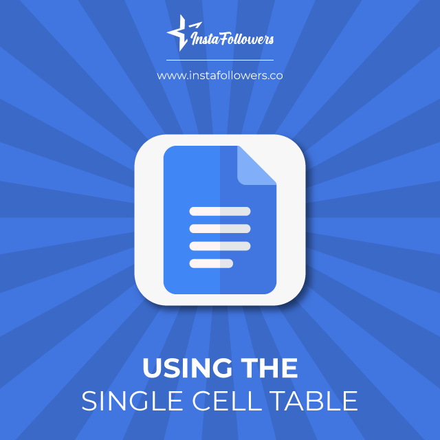 using the single cell table
