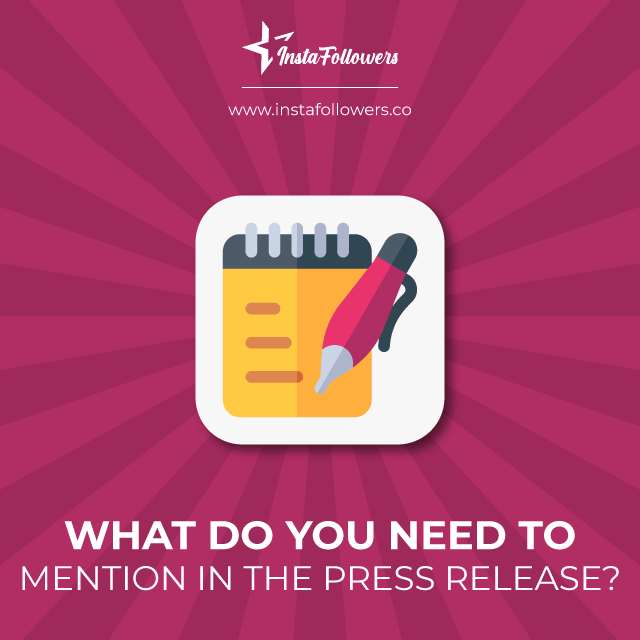 what do you need to mention in the press release