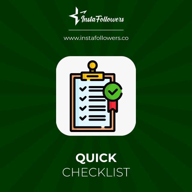 quick checklist