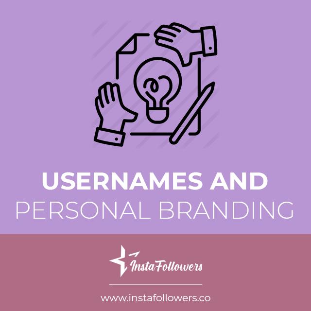 instagram usernames and branding