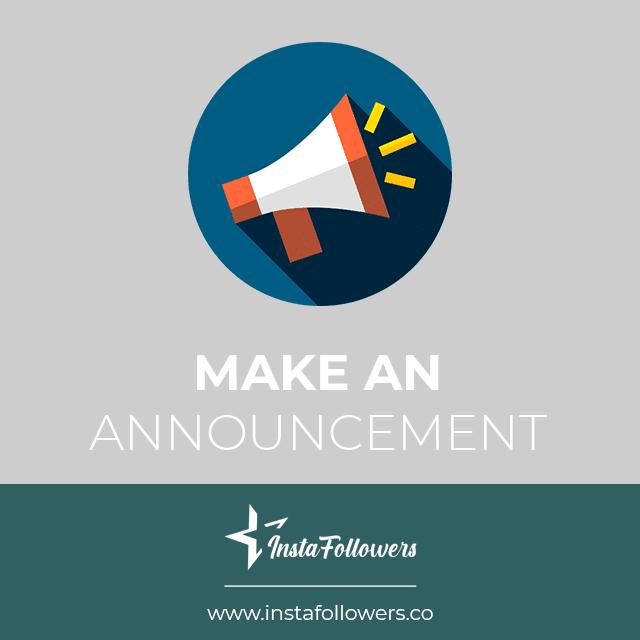 make an announcement