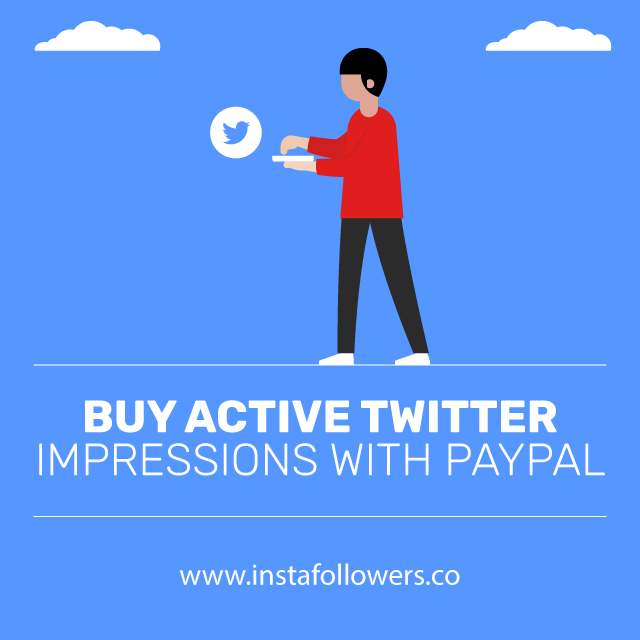 Buy Active Twitter Impressions With PayPal