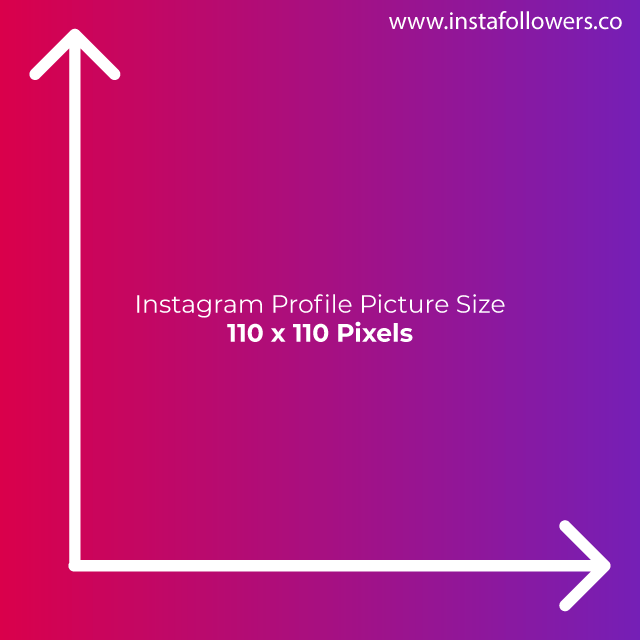 Instagram Profile Picture Size 110x110